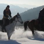 Reiter im Schnee