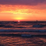 Sonnenuntergang bei Warnemuende